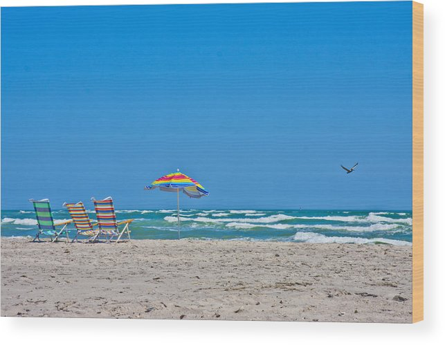 Topsail Wood Print featuring the photograph Ahhh Vacation by Betsy Knapp
