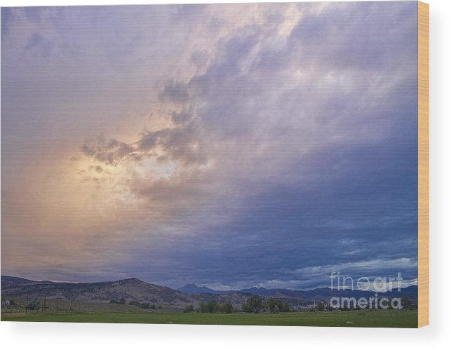 colorado Nature Wood Print featuring the photograph Alien Sky by James BO Insogna