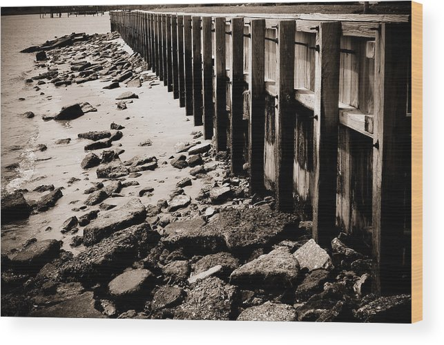 Landscape Wood Print featuring the photograph Along The Wall by Mandy Willis