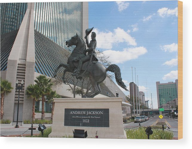 Andrew Jackson Wood Print featuring the photograph Andrew Jackson Statue by Rod Andress