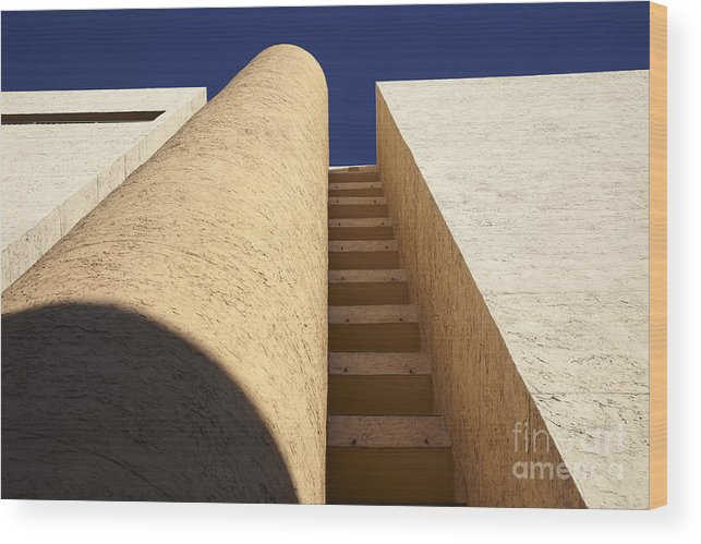 Architectural Wood Print featuring the photograph Architectural Abstract by Tony Cordoza