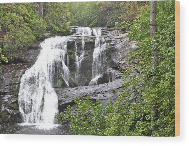 Landscape Wood Print featuring the photograph Bald River Falls by Rosemary Legge