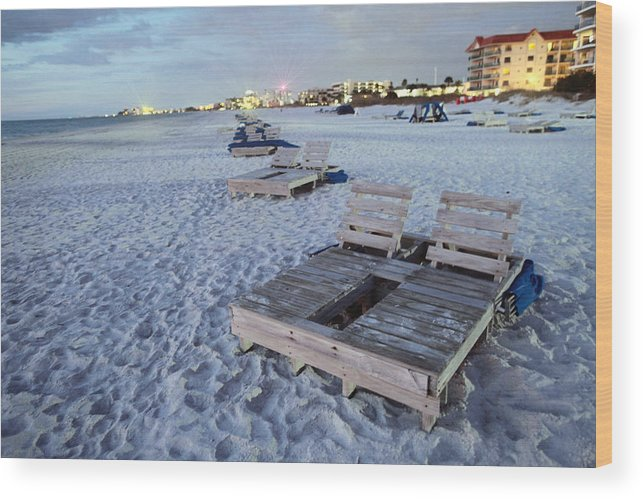 Treasure Island Wood Print featuring the photograph Beach Side by Jay D Anderson