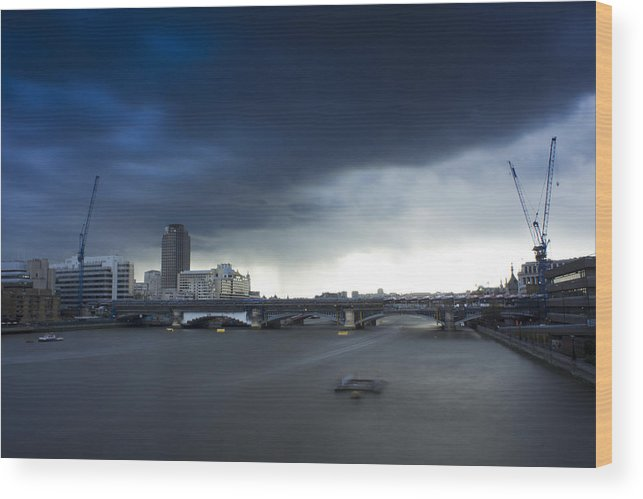 Before Wood Print featuring the photograph Before The Storm. by Theo Barber-Bany