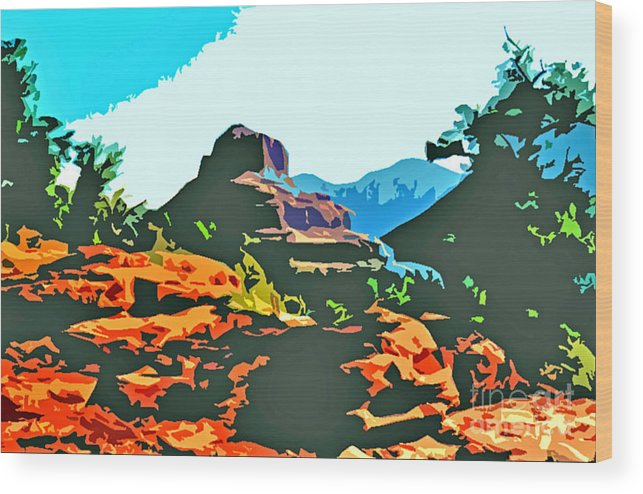 Bell Rock Wood Print featuring the photograph Bell Rock Sedona Arizona by Jerome Stumphauzer