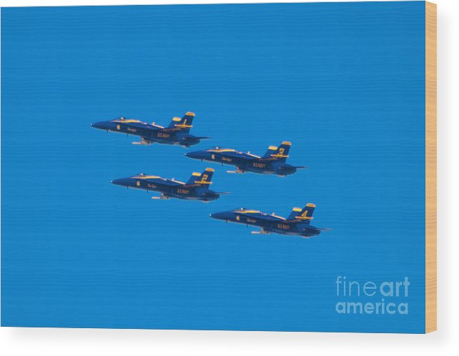 Blue Angels Wood Print featuring the photograph Blue Angels 25 by Mark Dodd