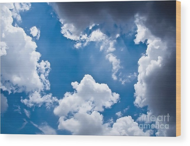 Blue Sky Wood Print featuring the photograph Blue Sky by Gaurishankar Khatri