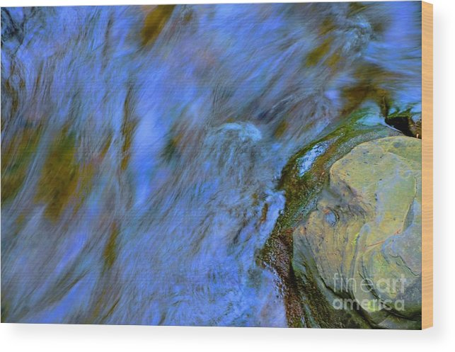 #letchworth #state #park Wood Print featuring the photograph Blue Waters by Kathleen Struckle