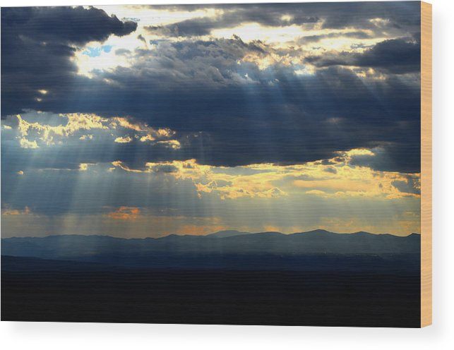 Desert Southwest Landscape Wood Print featuring the photograph Blueray Panorama by Susanne Still