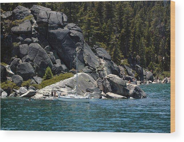 Usa Wood Print featuring the photograph Boat A Rockin by LeeAnn McLaneGoetz McLaneGoetzStudioLLCcom