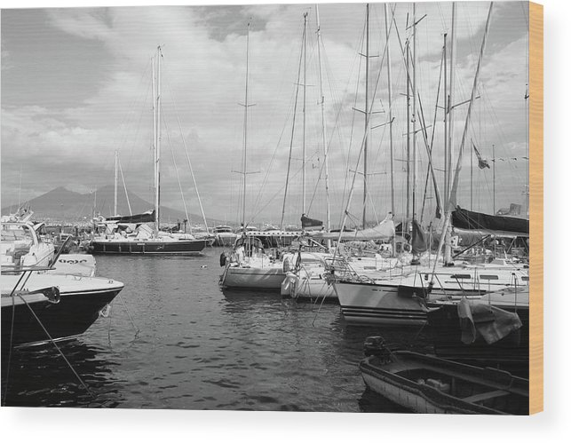 Boats Wood Print featuring the photograph Boats Meeting by La Dolce Vita