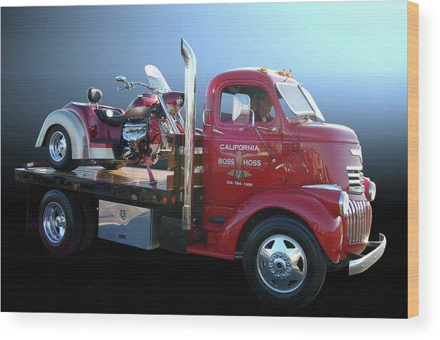 Chevy Wood Print featuring the photograph Boss Hoss Truck by Bill Dutting