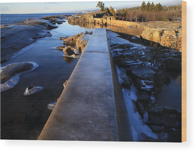 Wood Print featuring the photograph Breakwater by Joi Electa