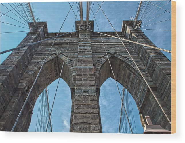 Brooklyn Bridge Wood Print featuring the photograph Brooklyn Bridge by Michael Yeager