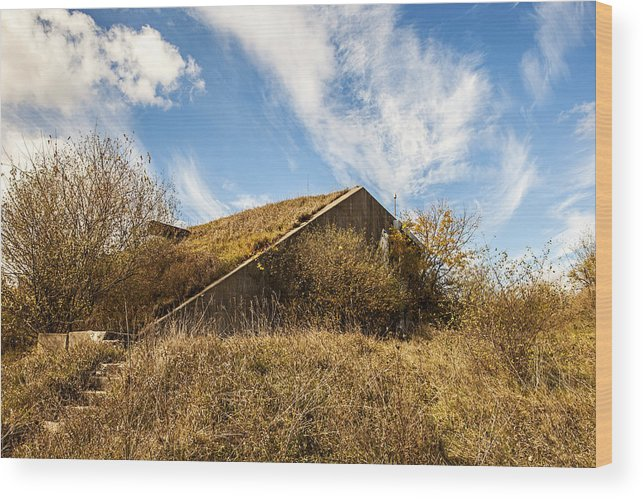Baap Wood Print featuring the photograph Bunker Down by CJ Schmit