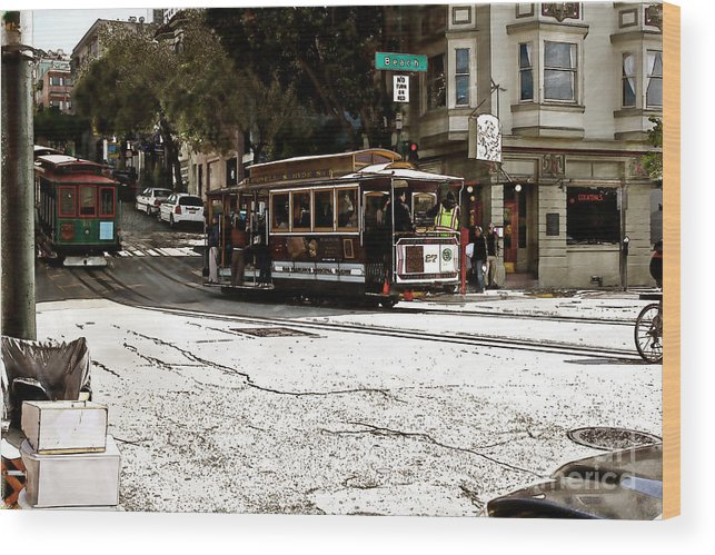 San Wood Print featuring the photograph Cable Cars by Sean Gillespie