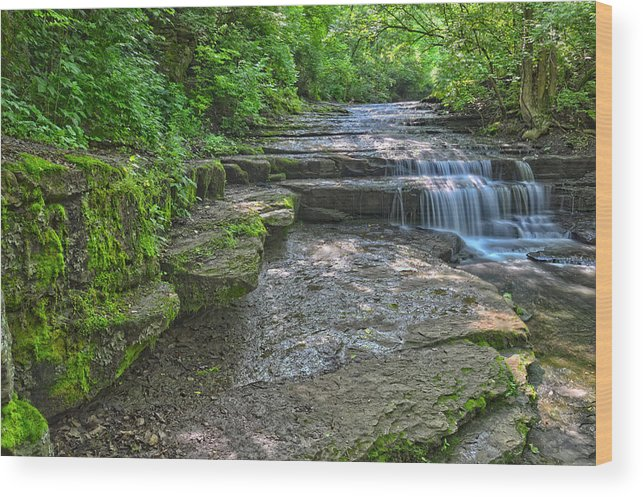Water Falls Wood Print featuring the photograph Camp Lazarus Falls by Brian Mollenkopf