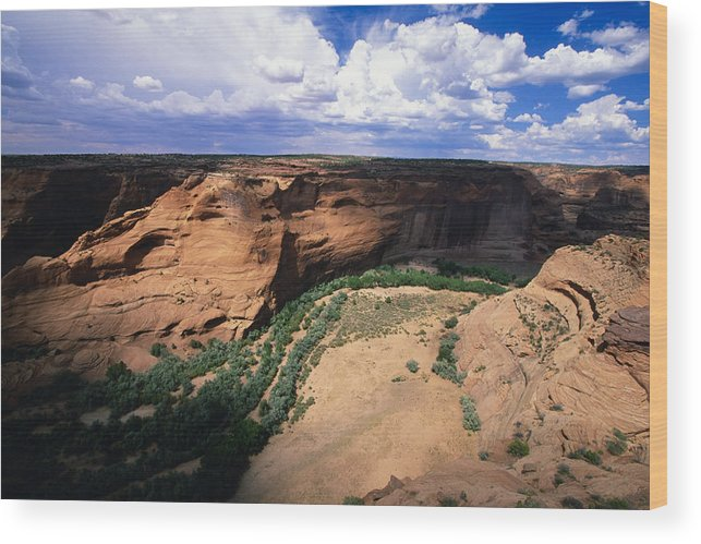 Landscape Wood Print featuring the photograph Canyon Light And Shadow by George Oze