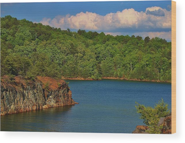 Wood Print featuring the photograph Carters Lake In Georgia by Marybeth Burke