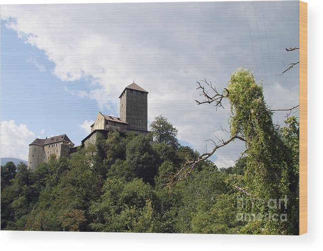 Castle Wood Print featuring the photograph Castle Tirol by Christiane Schulze Art And Photography