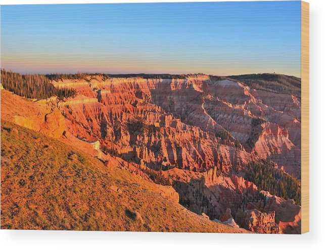 Cedar Breaks National Monument Wood Print featuring the photograph Cedar Breaks Sunset by Mark Bowmer