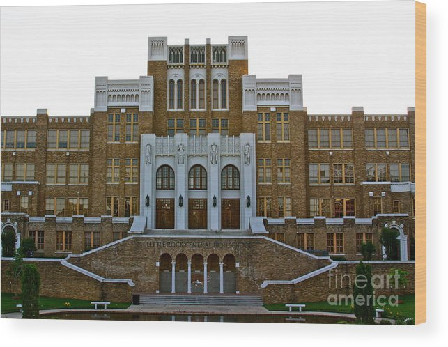 Central High School Wood Print featuring the photograph Central High School - No. 2040 by Joe Finney