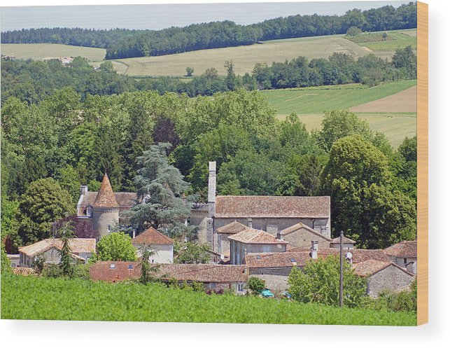 France Wood Print featuring the photograph Charente Village by Rod Jones