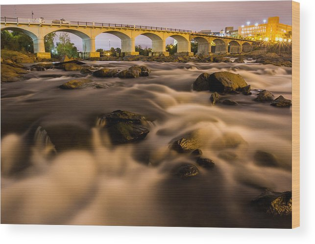 Chattahoochee Wood Print featuring the photograph Chattahoochee Rapids 1 by Brian Parton