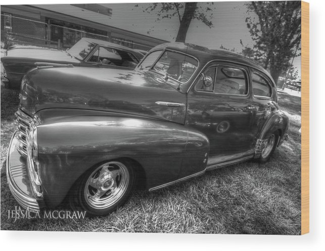 47 Wood Print featuring the photograph Chevy Fleetline by Jessica Brooks