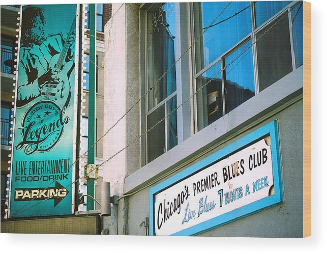 Music Wood Print featuring the photograph Chicago Blues by Claude Taylor
