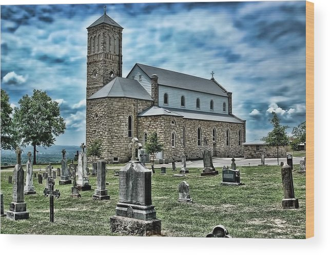 Church Wood Print featuring the photograph Church On The Hill by Renee Hardison