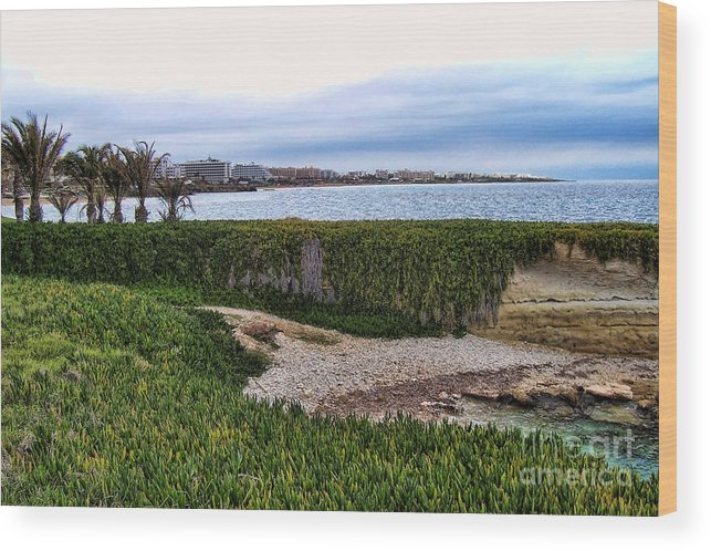 Cyprus Wood Print featuring the photograph Cyprus Coastline by Holly Lyndon