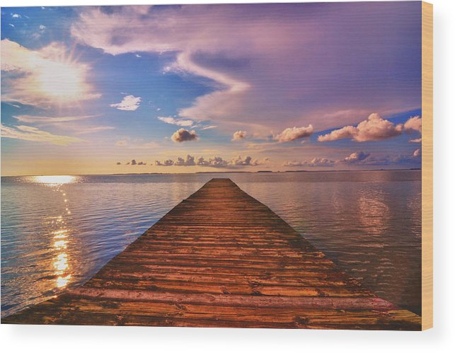 Dock Wood Print featuring the photograph Dock Of The Bay by Kelly Reber