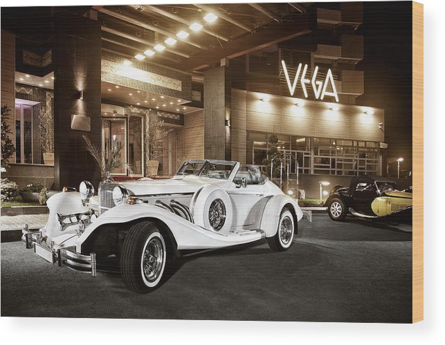 Vintage Wood Print featuring the photograph Excalibur Series Iv Roadster Color Version by Matusciac Alexandru