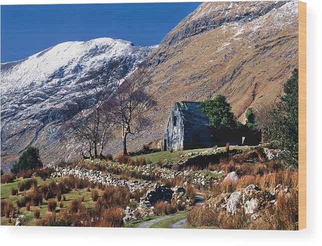 House Wood Print featuring the photograph Exterior Of Rustic Home by Gareth McCormack