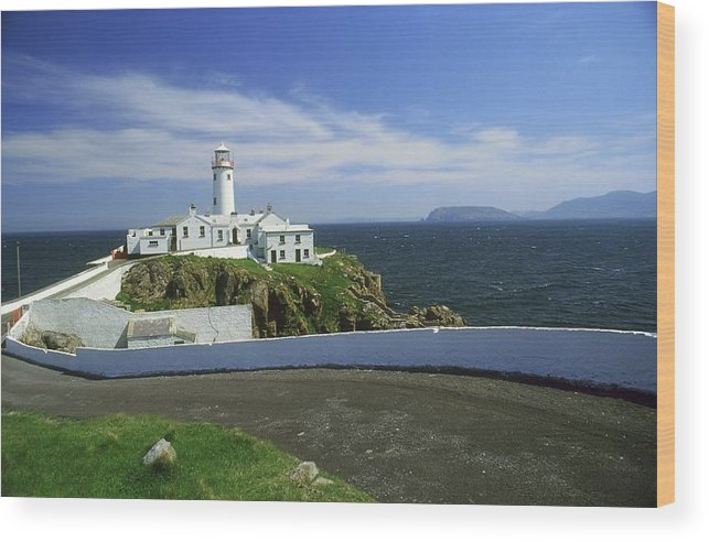Blue Sky Wood Print featuring the photograph Fanad Lighthouse, Co Donegal, Ireland by The Irish Image Collection