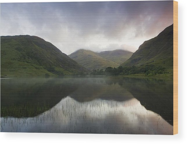 Flat Wood Print featuring the photograph Fin Lough, Delphi Valley, Co Galway by Peter McCabe
