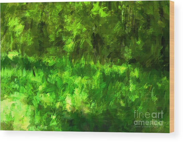 Green Wood Print featuring the photograph Forest Abstract by Clare VanderVeen