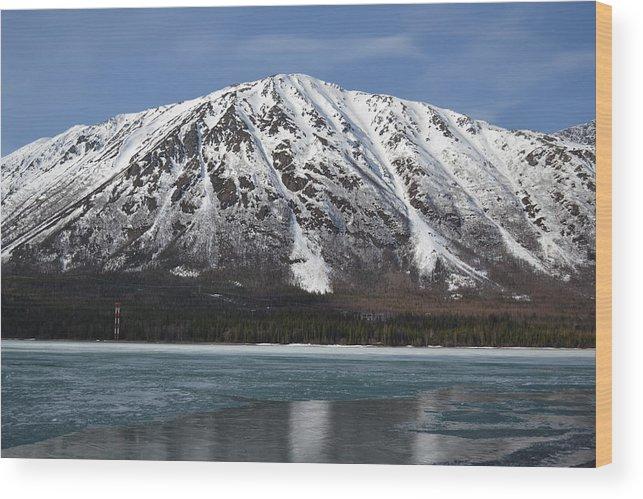Lake Wood Print featuring the photograph Frozen Lake by Jennifer Zirpoli