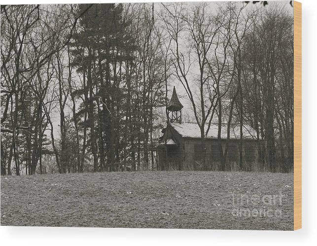 School House Wood Print featuring the photograph Ghost by James Knights
