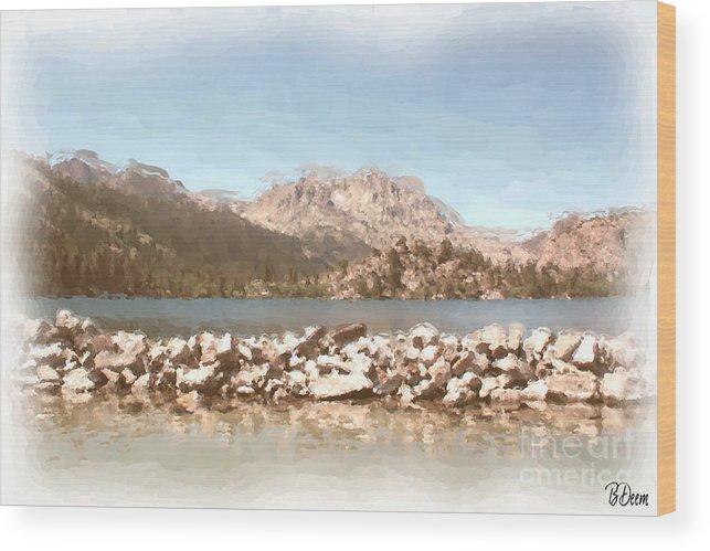 Gull Lake Wood Print featuring the painting Gull Lake by Brenda Deem