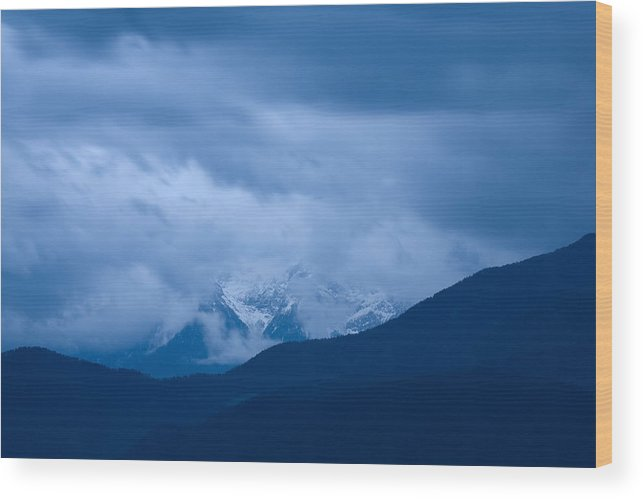 Mountains Wood Print featuring the photograph Hidden Mountain by Ian Middleton