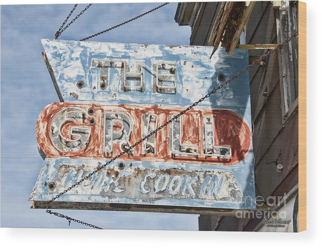 Sign Wood Print featuring the photograph Home Cookin by David Arment