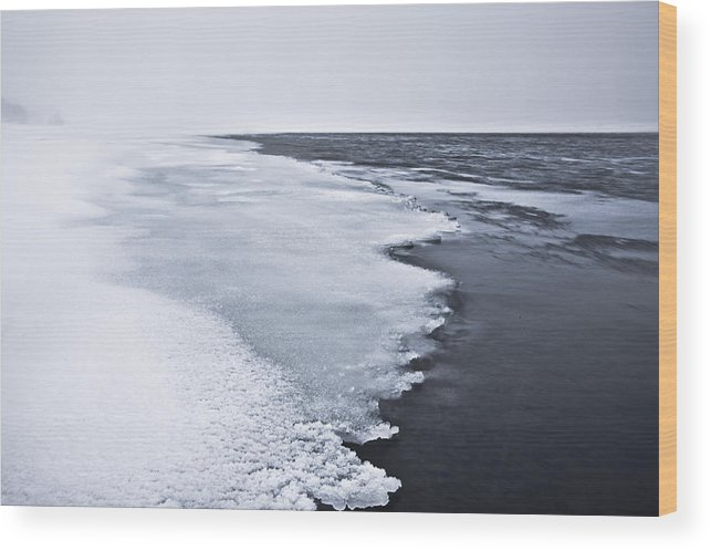 Ice Wood Print featuring the photograph Ice Water by Hordur Finnbogason