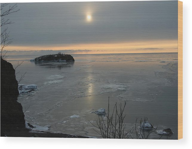 Wood Print featuring the photograph Icey Shore Black Beach by Joi Electa