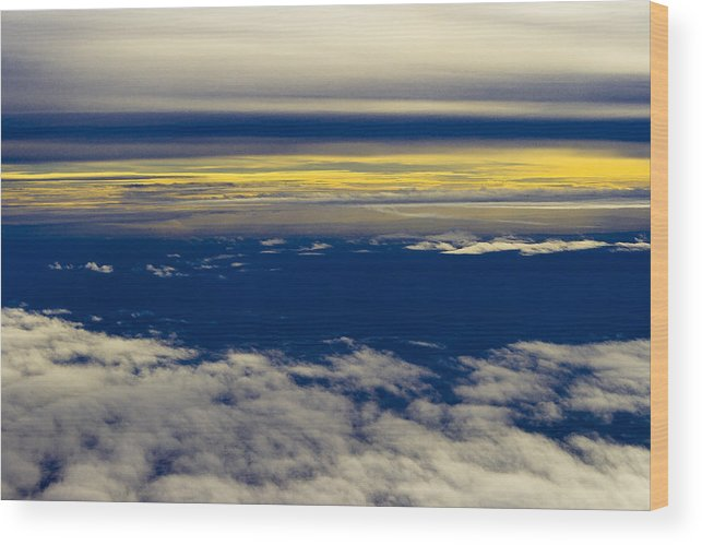 Sky Wood Print featuring the photograph In The Sky by Goran Besenski