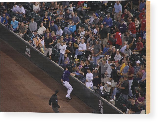 Todd Helton Wood Print featuring the photograph Into The Crowd by Cynthia Cox Cottam