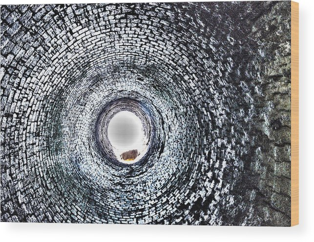 Smokestacks Wood Print featuring the photograph Into The Unkown by Glenn Gordon