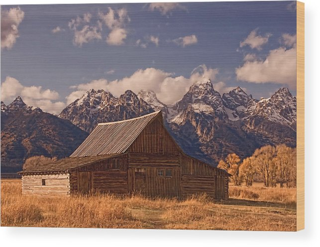Mountains Wood Print featuring the photograph Jackson Hole by Al Campoli