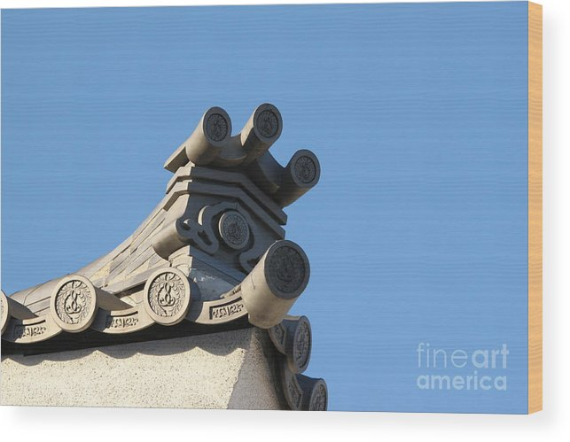Japan Wood Print featuring the photograph Japanese Rooftop by Henrik Lehnerer